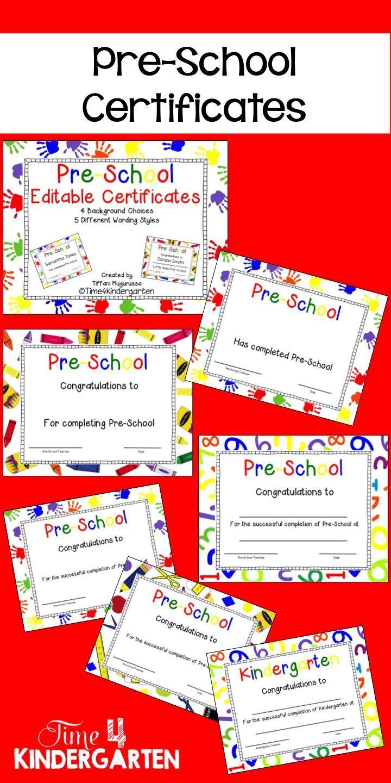 Pre-School Completion Certificates