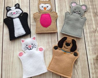 ITH-Zootiere Finger Puppet-Set mit Carry RS von jayniejayedesigns