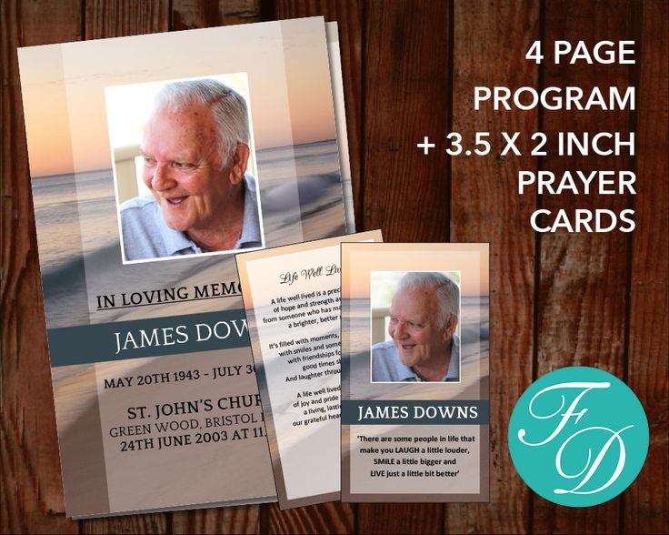 322 best Funeral Program Templates images on Pinterest Templates - funeral flyer template