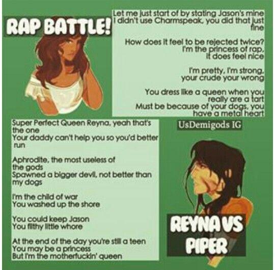 Fandom Rap Battle: Piper vs Reyna. Who won?