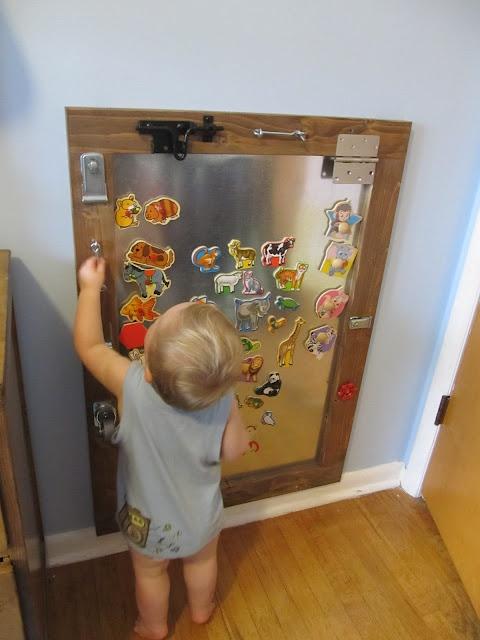 DIY Kid's Magnet & Activity Board