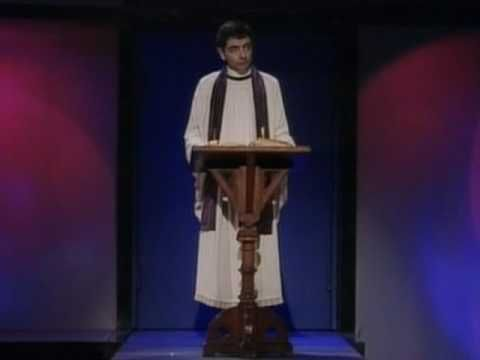 """Rowan Atkinson Live - """"Amazing Jesus"""" (This isn't for everyone, but it still makes me laugh after all these years. At least half of it is his delivery.)"""