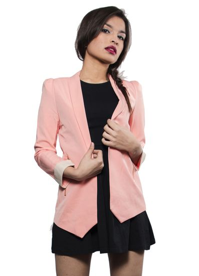 All Work and No Play-Pink Blazer - The Style Aisle Women jacket