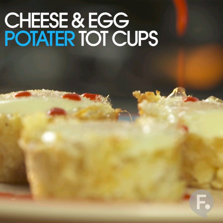 Cheese & Egg Potater Tot Cups