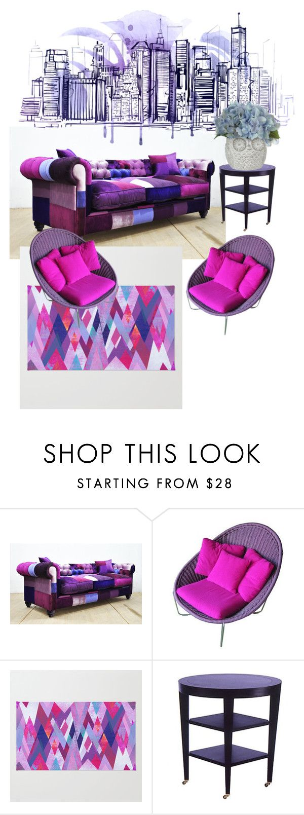 """""""purple"""" by mcounce ❤ liked on Polyvore featuring interior, interiors, interior design, home, home decor and interior decorating"""