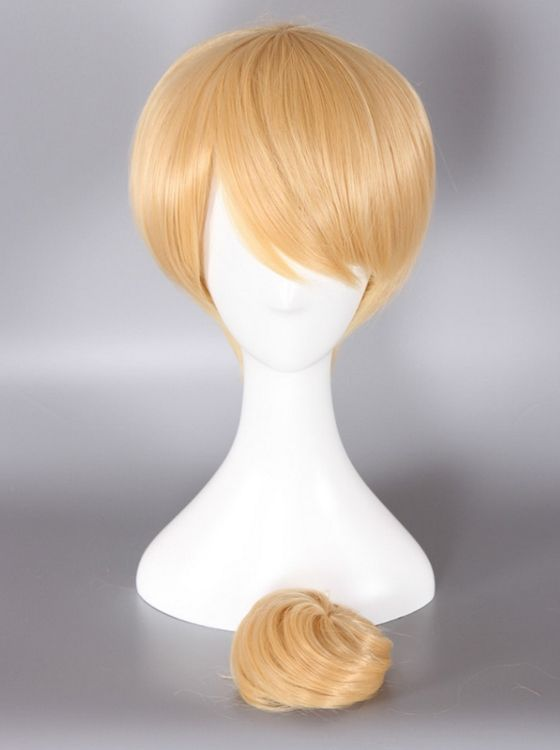 Tinkerbell Cosplay Wig With Bun Blonde Color