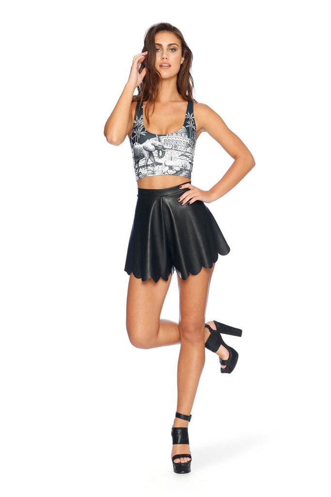 Elephant Walk Reversible Crop - LIMITED S and M