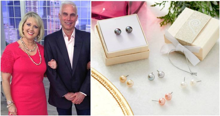 Honora's CEO Joel and Mary Beth Roe from #QVC showing some stunning Honora Freshwater Pearls -set of 5 freshwater pearl earrings in 2 color stories... break them up for 5 gifts or give the entire suite to the pearl girl in your life! (Less than $10 per pair!!!) #HonoraPearls #PearlJewelry #FindYourLuster