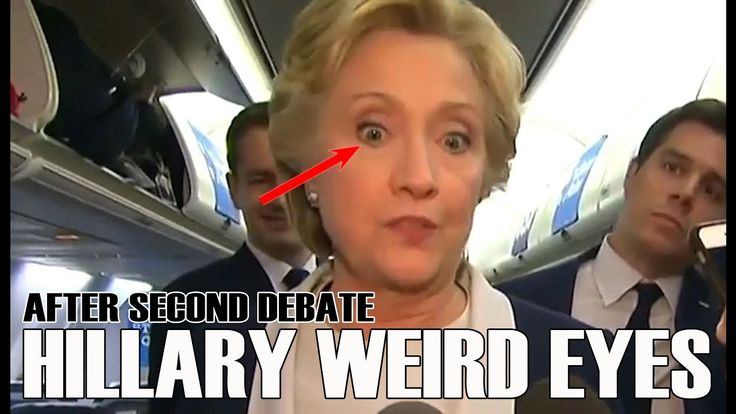 "AFTER SECOND PRESIDENTAL DEBATE / HILLARY WEIRD EYES After the second presidential debate, Hillary Clinton told reporters that she was surprised by the ""aval..."