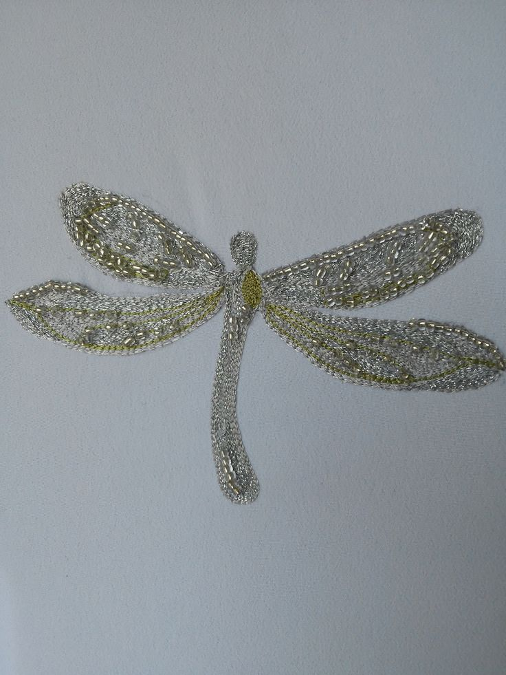 broderie de Luneville ~ dragonfly