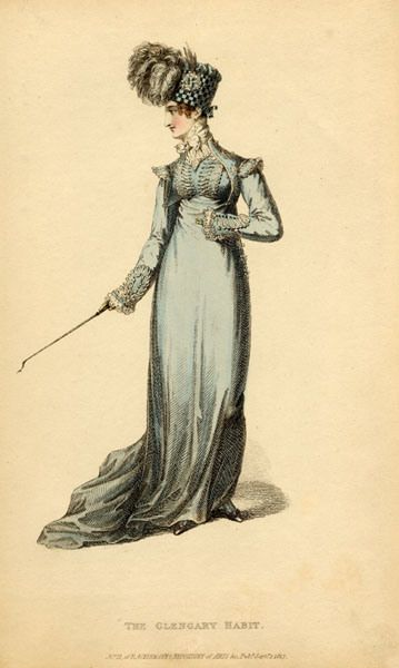 Regency Era Clothing | ... fashion plate of The Glengary Habit when she wrote the passage