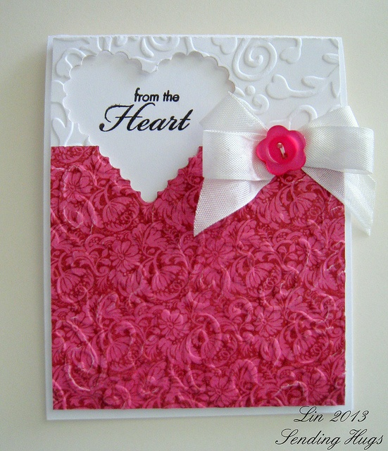 Lovely From the Heart Card..Stamp Set:my sentiment (an oldie from Hero Arts, CL163 Always HeartBy:quilterlin.