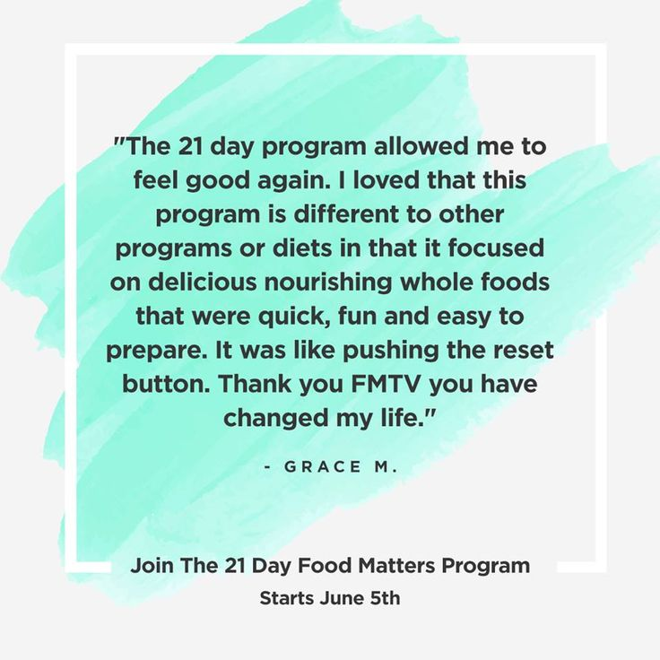 Rediscover your love of real food, nourishing cooking for your family and a healthier mindset and body!  The 21 Day Food Matters Program is BACK. We're taking on a new group and will be starting all together June 5th. Will you be joining us? http://bit.ly/21Day-FMJune