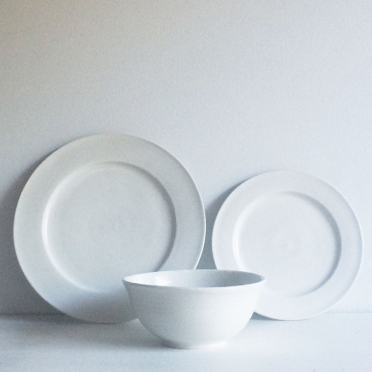 Farmhouse Dinner Plate-Classic White. I love these! Farmhouse style