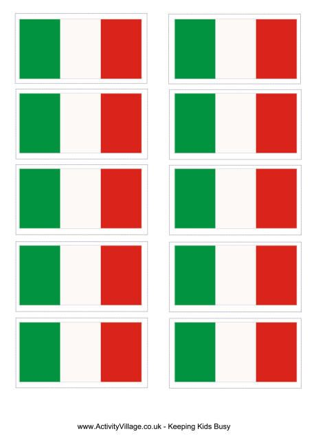 italy flag printable
