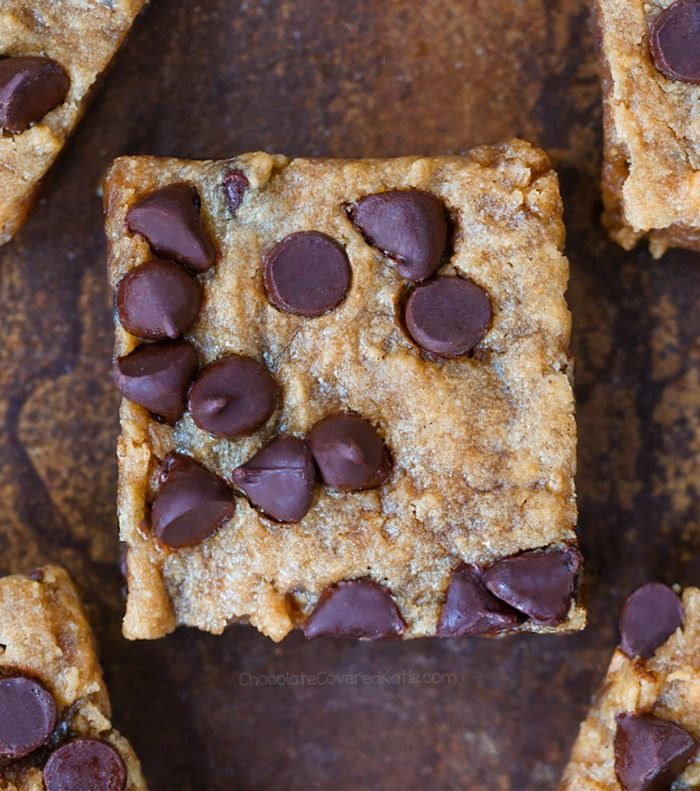 Classic soft and gooey blondie bars, with chocolate chips in every bite – just the way a blondie should be! I know… You're wondering about the title. It's really my friend's fault. When I brought th
