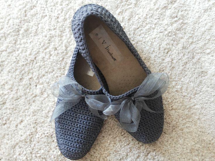 Spring Summer crochet shoes by elvihandmade on Etsy