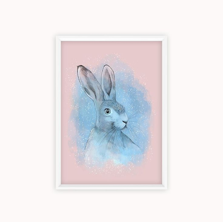 Rabbit - A4 print via Madeby MI design. Click on the image to see more!