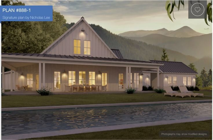Back View Plan 888 1 Modern Farmhouse Nicholas Lee