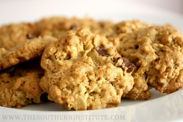 Oatmeal PB Chocolate Chip Cookies