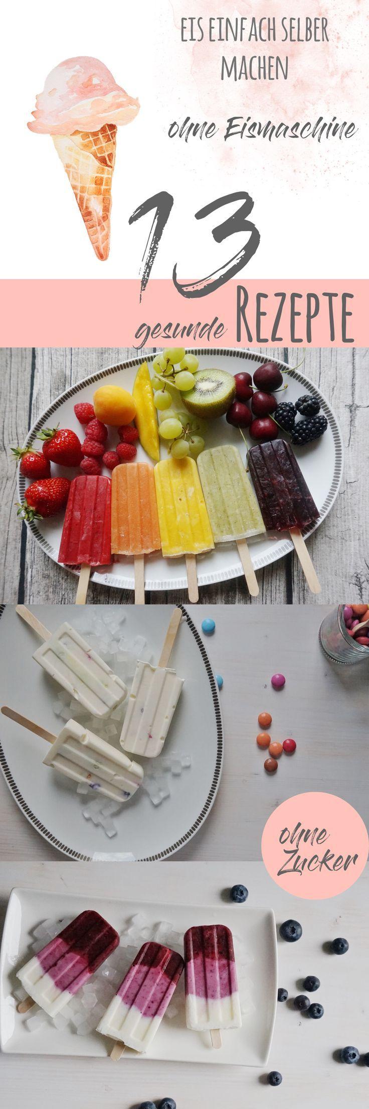Eis einfach selber macchen. Eis easy und schnell ohne Eismaschine zubereiten. Viele vegane Sorten und zuckerfrei! Gesammelt in einem kostenlosen E-Book!