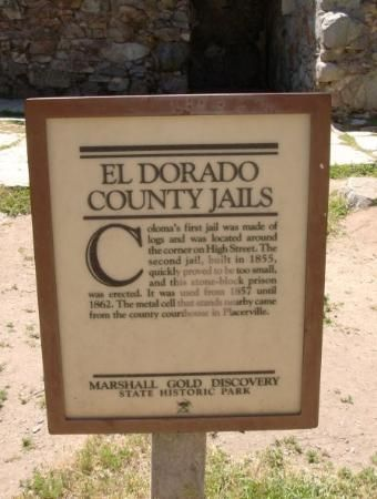 El Dorado County Museum - Placerville. One of El Dorado Counties' biggest attractions is gold rush monuments and museums.   Want to pick out a few to visit? Go to: http://visit-eldorado.com/