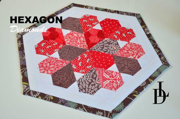 #patchwork #hexagon #diamonds #tutorial #patchworkovévzory #šablony