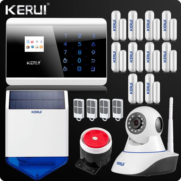 Dual Net Wireless Home Alarm System Security Touch keypad English/Russian/French/Spanish Voice