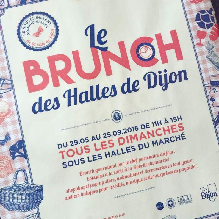 Le retour du Brunch des Halles de Dijon le 14 mai 2017 !