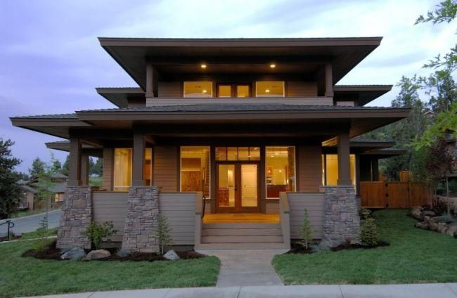 Prairie style house plans prairie floor plans 064 00091 for Prairie craftsman