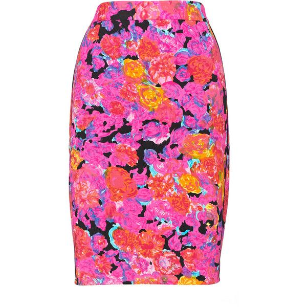 Victoria Floral Pencil Skirt by None, via Polyvore