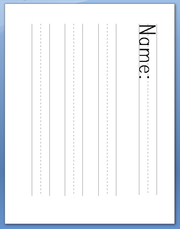Best 25+ Kindergarten lined paper ideas on Pinterest Writing - can you print on lined paper