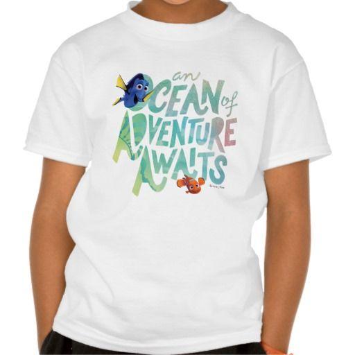 Dory & Nemo | An Ocean of Adventure Awaits. Regalos, Gifts. #camiseta #tshirt