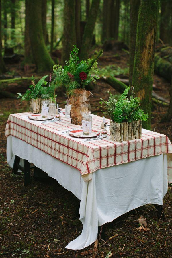 lumberjack wedding ideas. Love!