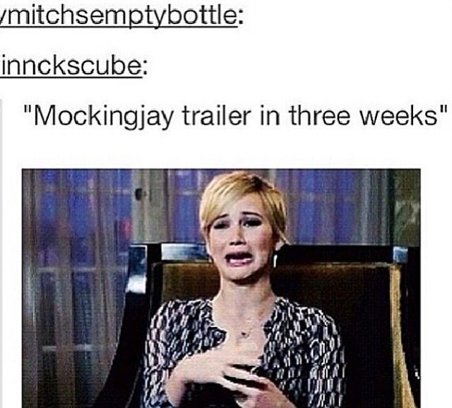 It will be an explosion of feels when I see the trailer. But, seriously that's my face.
