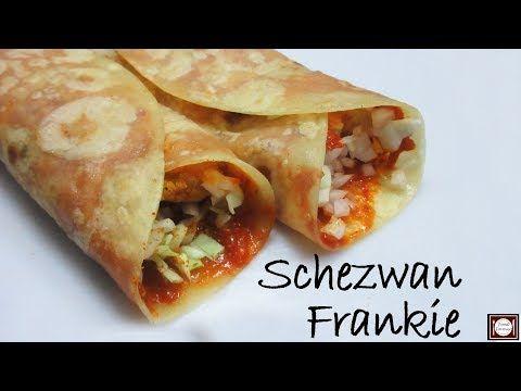 शेज़वान फ़्रैंकिए बनाये एकदम आसान तरीके से | Schezwan Frankie Recipe in Hindi |Schezwan Frankie Recipe - YouTube