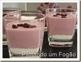 iogurte com geléia