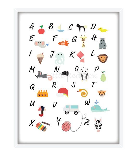 Lets learn the ABC - poster on Etsy, $39.00 AUD