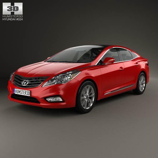 Hyundai Grandeur (HG) 2012 3d model from humster3d.com. Price: $75
