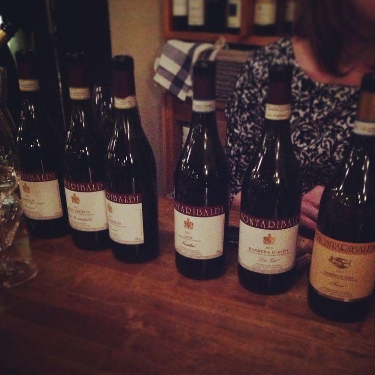 Winetasting. Big reds from Montaribaldi, Italy.