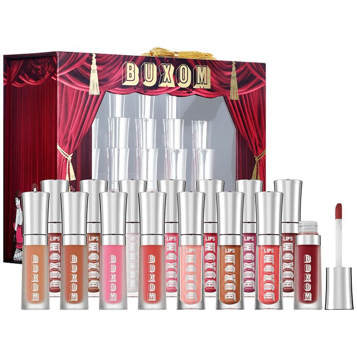 Buxom Shimmer & Shake Show-Stopping Collection of 15 Mini Full-On Lip Polishes & Creams #Giftopia #Sephora #gifts #holiday2013