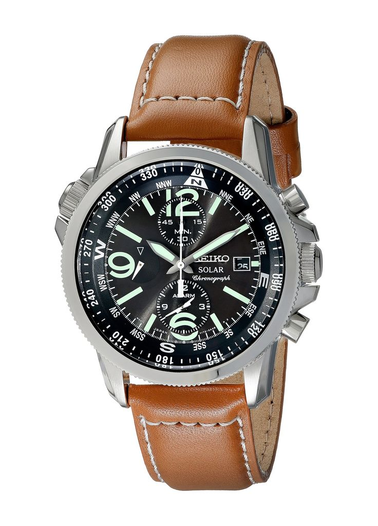 SOLAR WATCH, FREE SHIPPING Seiko Men's SSC081 Adventure-Solar Classic Casual Watch: Seiko: Watches: