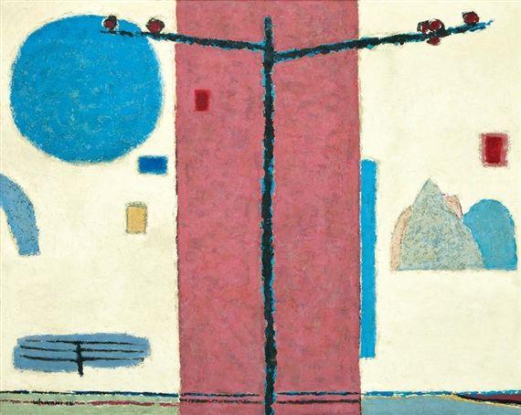 (Korea) Spring by Whanki Kim (1913~ 1974)