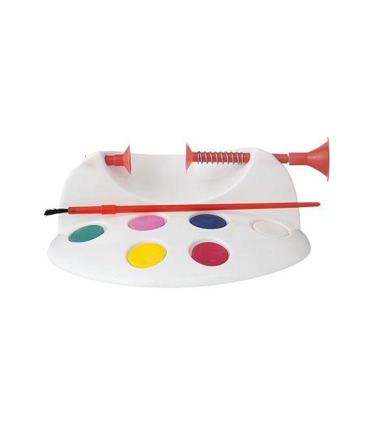 Atelier oeufs de Pâques à décorer : pressoir pour maintenir l'oeuf, peinture et pinceau - Hema