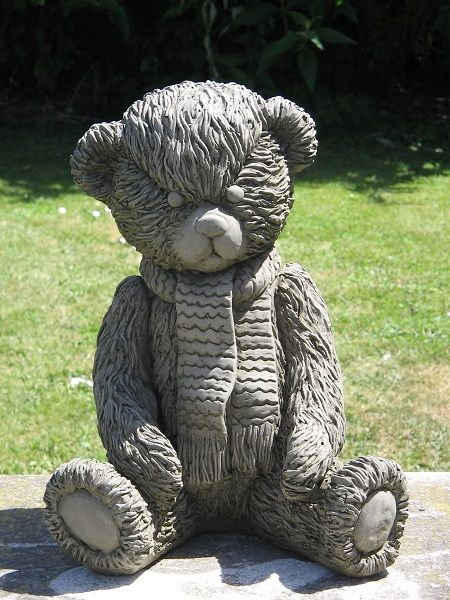 Beautiful Scarf Teddy Bear Statue