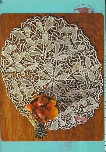 Romanian Point Lace crochet mat