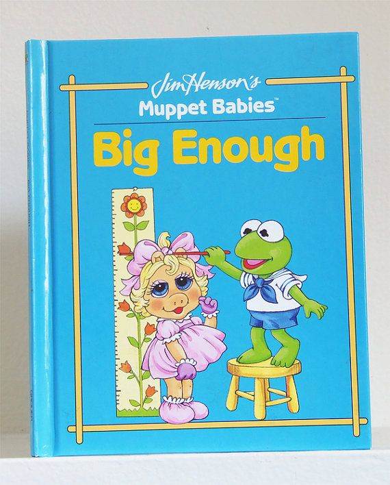 Vintage Big Enough Muppet Babies Book Big by kickinitoldskool