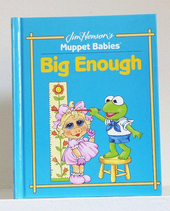 Vintage Big Enough Muppet Babies Book Big by kickinitoldskool