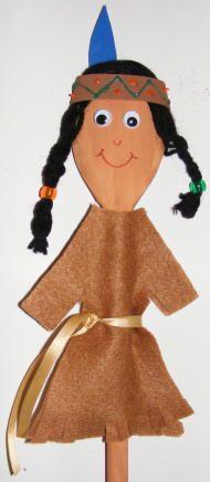 houten lepel indiaan
