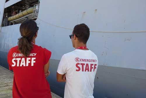 EMERGENCY NGO staff in Siciliy